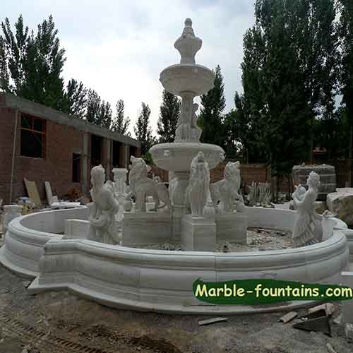 Large italian marble fountains for pond and extra large for Pond fountains for sale