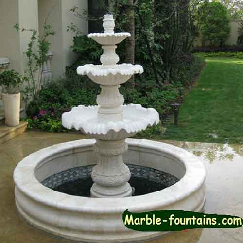 Natural Stone Hand Carved Garden Outdoor Fountain For Sale