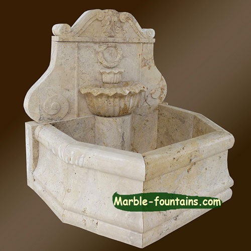 yard wall mounted fountains