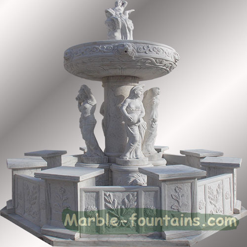 back yard stone fountain